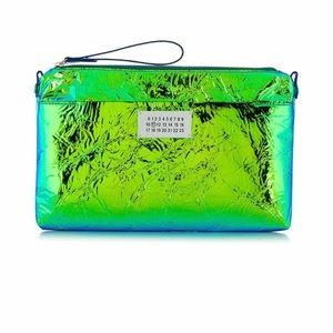Maison Margiela NEON Green/Blue Colorshift Clutch